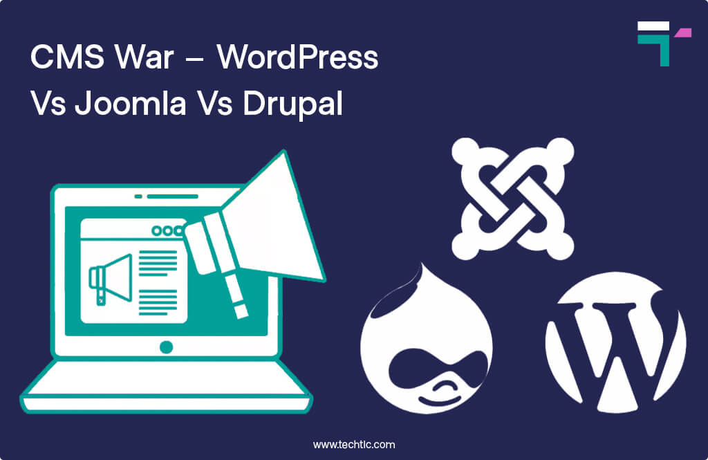 CMS War – WordPress Vs Joomla Vs Drupal