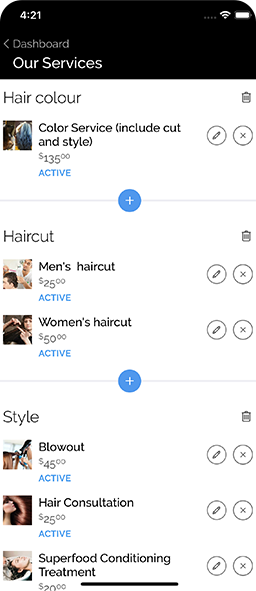 Hair Dime Barber Mobile App Development