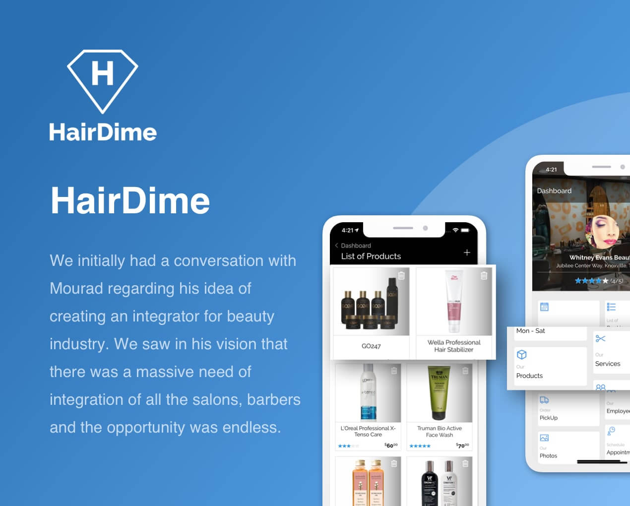 HairDime - Barber Mobile App