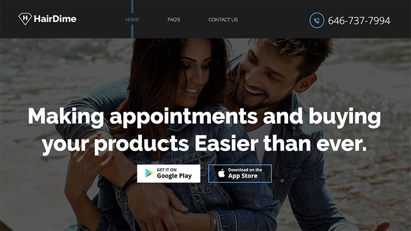 Hair Dime - A Salon Mobile App Development