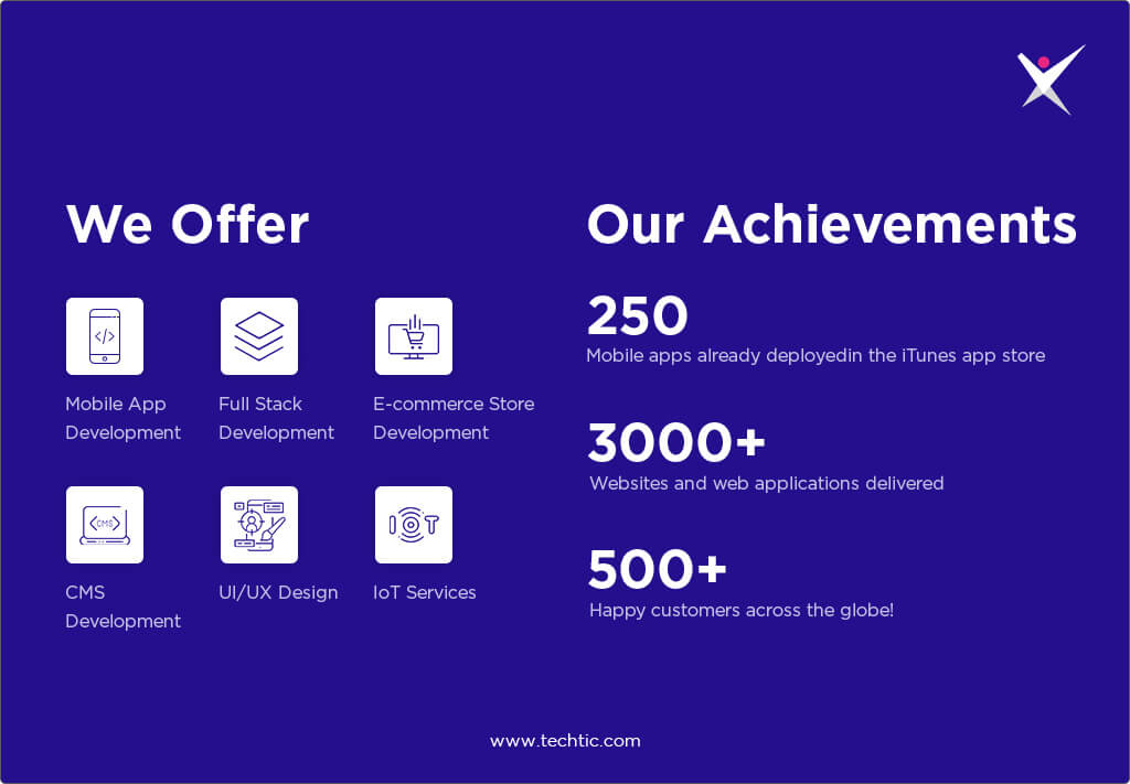 Achievements and Services of Techtic Solutions
