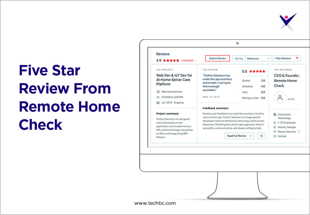 Five Star Review From Remote Home Check Client at Clutch Profile