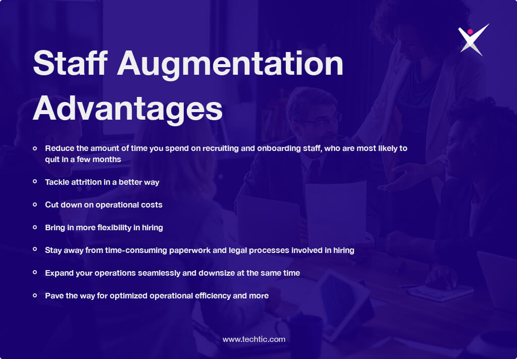 Advantages of Staff Augmentation Chart
