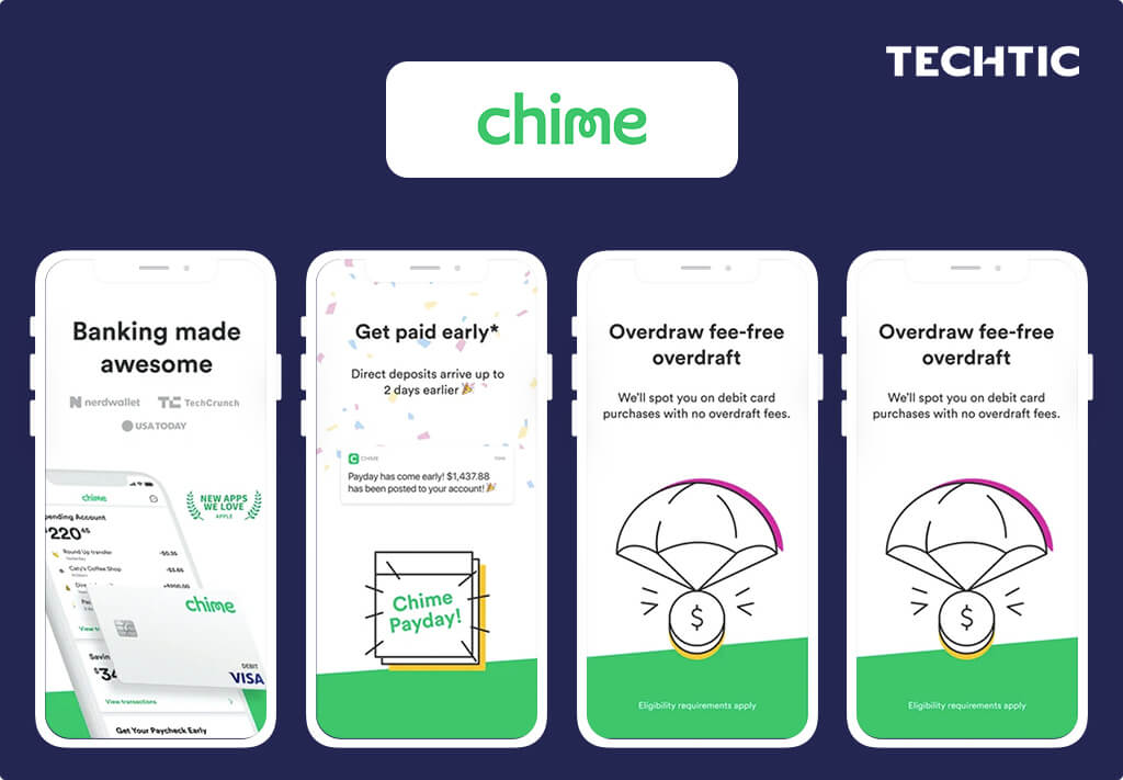 Top Fintech Apps 2021 - Chime - A Mobile Banking App