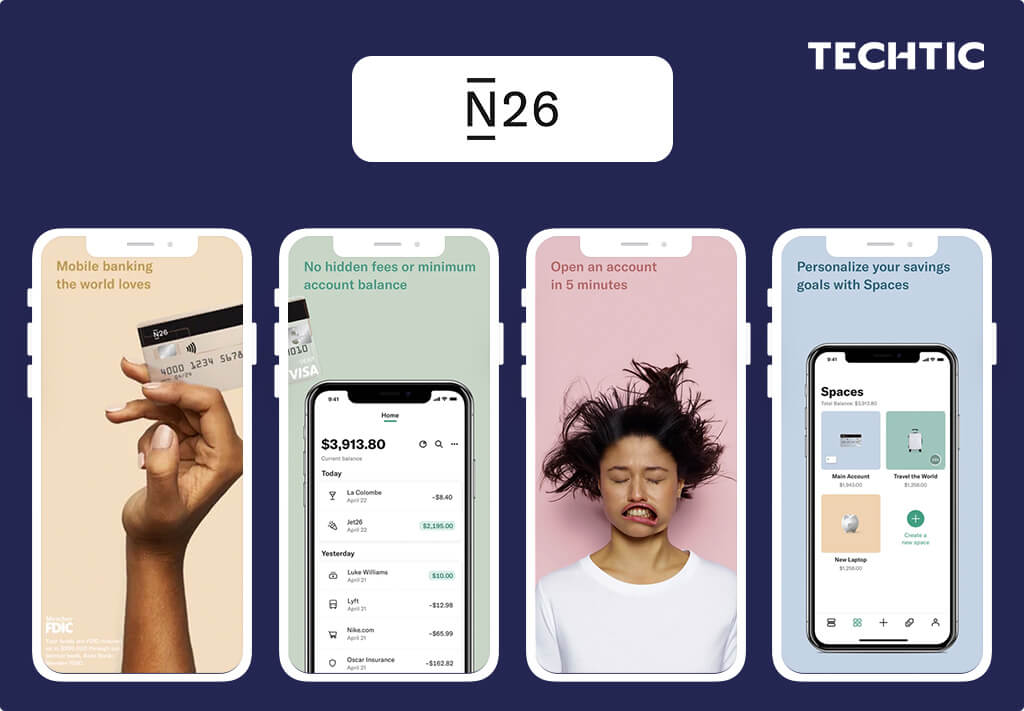 Best Fintech Apps 2021 - N26 - A Finance Management App