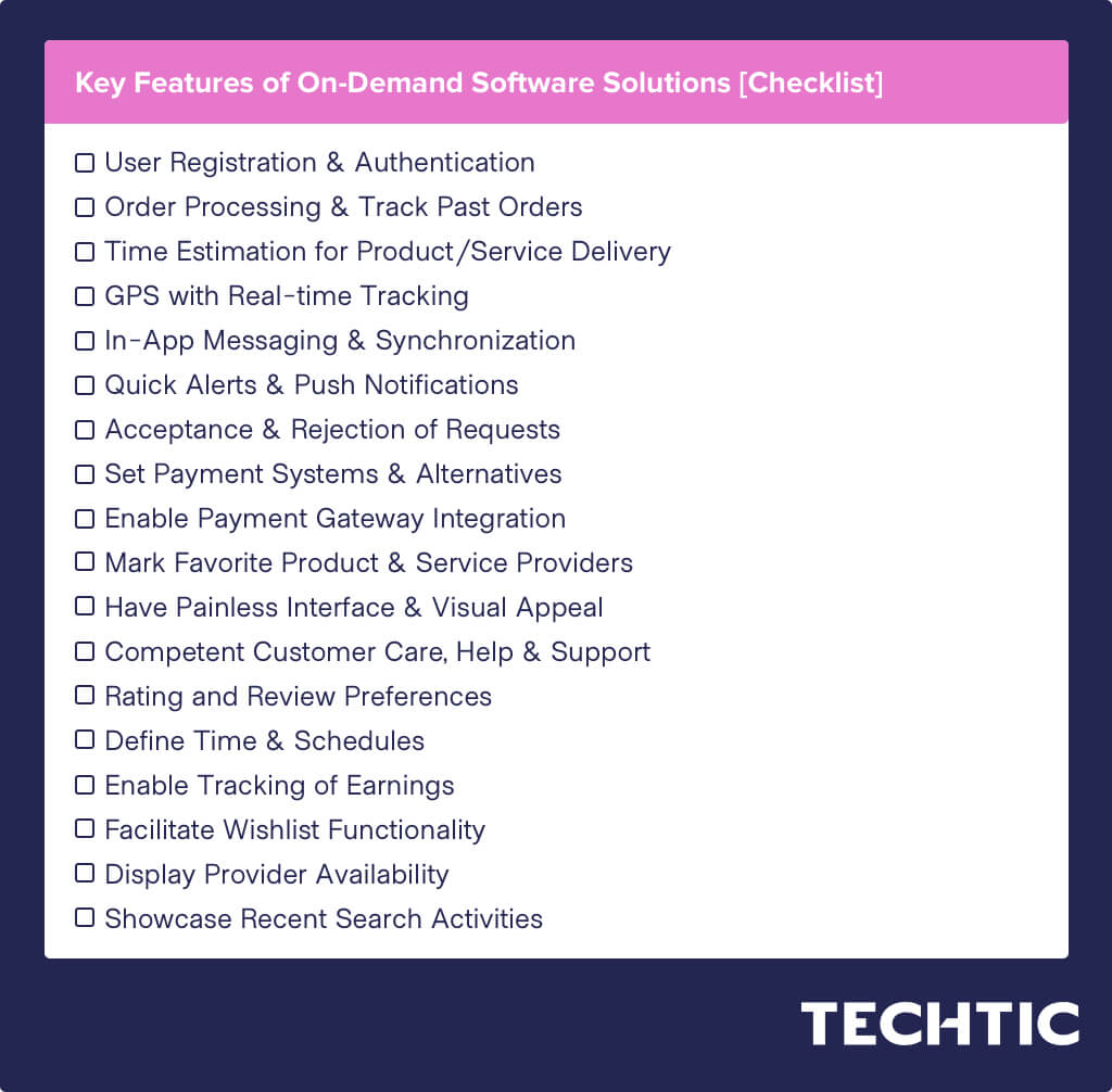 Key Features of On-Demand Software Solutions [Checklist]