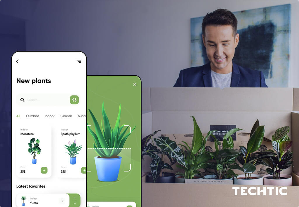 On-Demand App for Plant Delivery