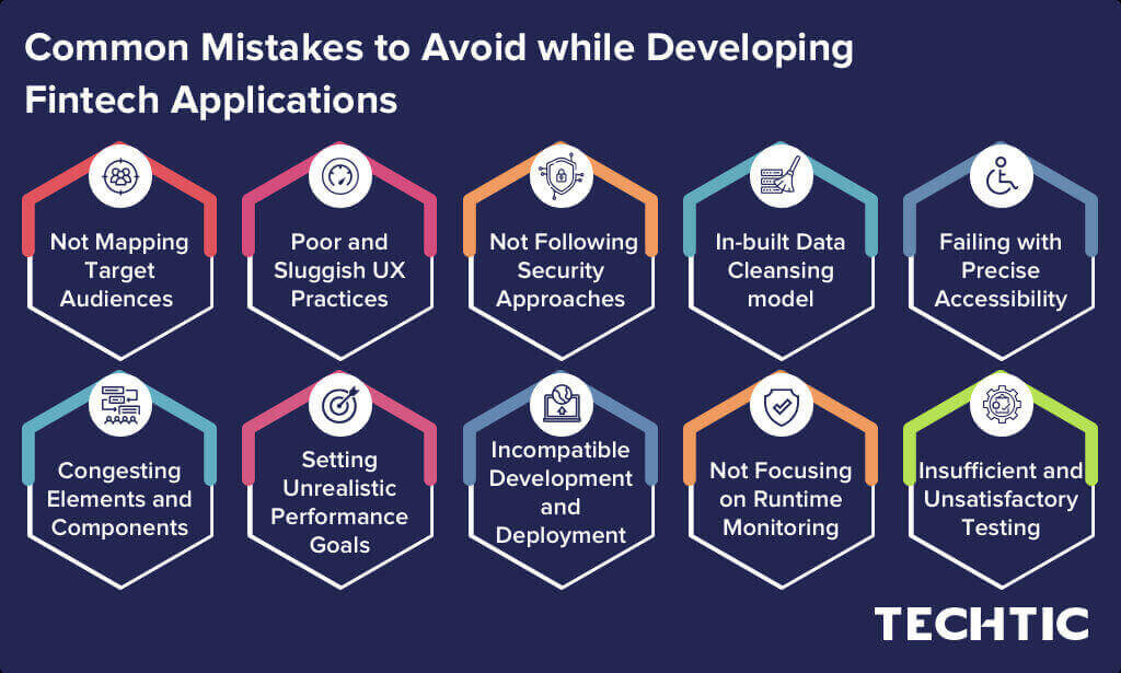 Common Mistakes to Avoid while Developing Fintech Applications